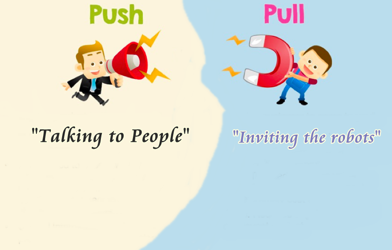 Pull and Push SEO strategy