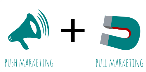 push and pull marketing differences by Allworld SEO Service