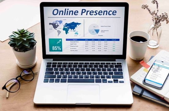 Strong online presence