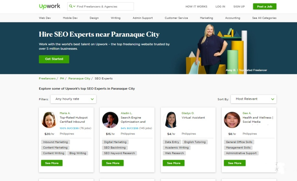 Upwork's top SEO Experts in Paranaque City